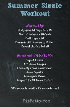 Summer Sizzle Workout - FitBetty.com