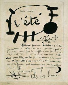 Joan Miró L'été - Poema-cuadro, 1927