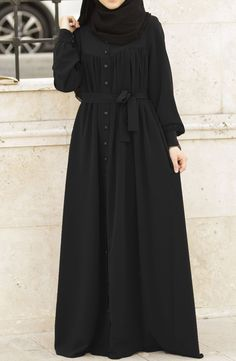 Ahsen Robotic Abaya - Schwarz Fountain – A Watery Touch To Your House Article Bo Hijab Fashion Summer, Niqab Fashion, Modest Fashion Hijab, Modern Hijab Fashion, Muslim Women Fashion, Hijab Fashion Inspiration, Islamic Fashion, Fashion Outfits, Mode Abaya