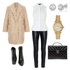"""""""Downtown Stroll"""" by thefazhionenthusiast on Polyvore featuring Elizabeth and James, Yves Saint Laurent, Alexander Wang, Very Volatile, Chanel, Rolex, women's clothing, women, female and woman"""