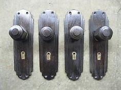 6 Pairs Original Reclaimed 1930s Art Deco Brass Door Knobs ...