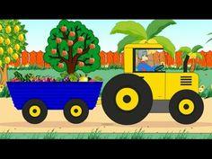 Мультик про трактор. Учим название фруктов и ягод. Трактор собирает урожай