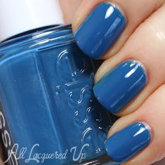 Essie Hide and Go Chic (Spring 2014 Hide and Go Chic collection) - teal-leaning medium blue creme