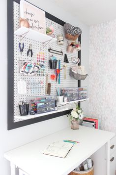 Jul 2019 - Add pretty vertical storage to your space with this feminine home office DIY pegboard. I have been wanting to add a beautiful pegboard to my home office for years.