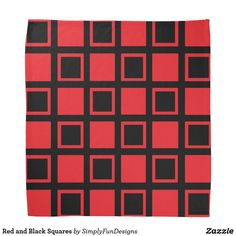 Red and Black Squares Bandana