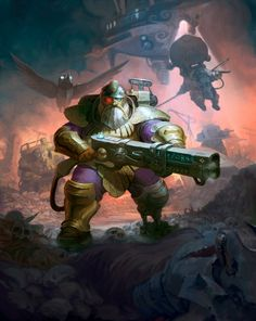 ArtStation - The Kharadron Overlords, Tze Kun Chin 陈志堃 Warhammer Aos, Warhammer Fantasy, Warhammer 40000, Kharadron Overlords, Game Workshop, Dieselpunk, Dwarf, Cover Art, Fantasy Art