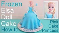 Frozen Elsa Cake - http://cakesmania.net/frozen-elsa-cake/