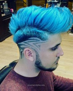 Try Something New With These Women Alternative Hair That Are Trending - Stylendesigns Mens Hair Colour, Hair Color Blue, Cool Hair Color, Blue Hair, Creative Hairstyles, Boy Hairstyles, Haircuts, Hair And Beard Styles, Curly Hair Styles
