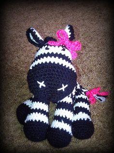 Zebra Plush  Crochet