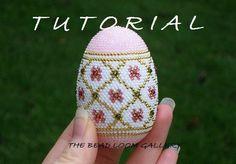 Crochet Seed Beaded Easter Egg with Swarovski Crystals - PDF File TUTORIAL. $8.50, via Etsy.