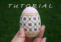 Crochet Seed Beaded Easter Egg with Swarovski Crystals - PDF File TUTORIAL. $8.50, via Etsy.