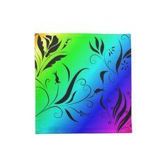 Rainbow Floral Cloth Napkins