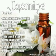 Sensual, exotic and sweet-scented, Jasmine Essential Oil also has important benefits for health and wellbeing ♡ PURASENTIALS.COM ♡ ESSENTIAL OILS WITH LOVE