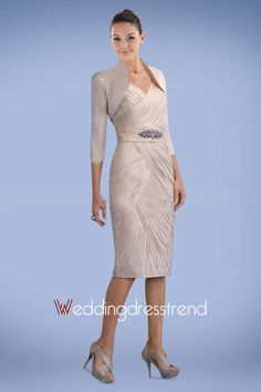 Beautiful Faddish V-neck Knee-Length Mother of the Bride Dress - Cheap Mother of the Bride Dresses Wholesale and Retail Online