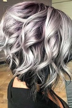 Beautiful Gray Hair Ideas Gray hair is becoming quite trendy thanks to pop stars like Pink and Rihanna. Check out these cool gray hairstyles from salt and pepper to silvery gray!Gray hair is becoming quite trendy thanks to pop stars like Pink and Rihanna. Grey Ombre Hair, Grey Wig, Grey Hair Colors, Curly Gray Hair, Emo Hair, Thick Hair, Silver Grey Hair Gray Hairstyles, Silver Hair Styles, Short Gray Hairstyles