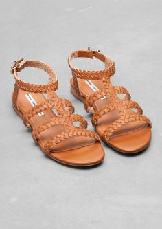 & Other Stories | Braided T-strap Sandal