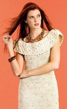 Top 10 Free Patterns For Crochet Summer Clothes...free pattern from Caron for this pretty dress! I would love to have a dress like this!