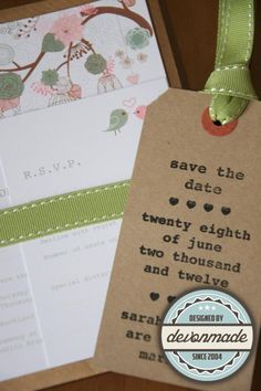 Bespoke Wedding Invitation and Save the Date