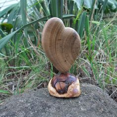 "Wood sculpture - ""LOVE heart"" - unique heart gift handmade in Australia by NaturesArtMelbourne on Etsy"