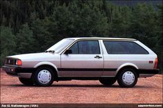 1987 VW Fox Wagon - my 1st car.  Mine was a faded Maroon.  I once fit 10 college students in it.