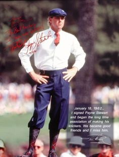 Classic mens golf style. Payne Stewart in the 80s.
