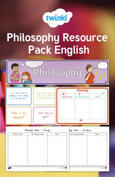 Philosophy Resource Pack in English and aligned with NZ Curriculum Growth Mindset, Honesty, Curriculum, Philosophy, Packing, English, Key, How To Make, Resume