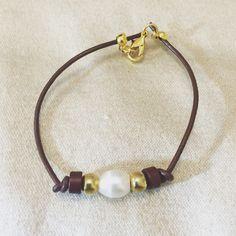 #zoecreations #leather # pulsera  #bracelet #pearl #perla #jewelry #pr