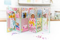 Mini Albums Scrap, Mini Scrapbook Albums, Scrapbook Designs, Scrapbooking Ideas, Scrapbook Layouts, Accordion Folder, Diy Gifts Cheap, Art Basics, Crafts With Pictures