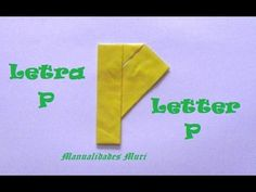Origami - Papiroflexia. Abecedario muy fácil. Letra P