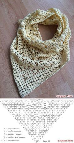 8 Tuch häkeln / Muster / Cloth Scarf - Her Crochet Crochet Shawls And Wraps, Crochet Poncho, Knitted Shawls, Crochet Scarves, Crochet Clothes, Crochet Lace, Knitting Scarves, Ravelry Crochet, Cotton Crochet