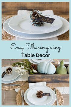EASY THANKSGIVING TABLE DECOR. #thanksgiving #fall #homedecor #diy