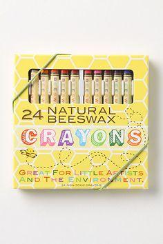 Natural, non-toxic beeswax crayons.