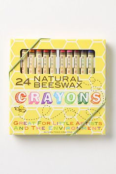 It's none-of-your-beeswax crayons! Just what we all needed, another reason to mix cutesy sayings with art supplies =-)