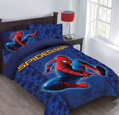 Marvel Spiderman Friendly Neighborhood Twin Comforter Set with Fitted Sheet Teen Bedding Sets, Men's Bedding, Full Comforter Sets, Toddler Girl Bedding Sets, Luxury Bedding Sets, King Comforter, Luxury Bedding Collections, Comforters, Bedspreads