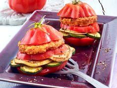Tomaten-Rezepte mit aromatischem Sommergemüse - tomaten-burger  Rezept