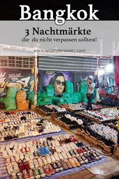 Der Besuch auf einem Nachtmarkt in Bangkok gehört fest ins Programm beim Besuch von Thailands Hauptstadt. Unsere 3 Favoriten findest du hier.