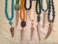 Deer antler horn #necklaces Elizabeth Lanier Designs #shopELD http://etsy.me/OsyFP1