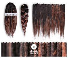 Wool Dreadlocks woolen dark brown long dreads by BullfinchHandmade #wooldreads #woolies #dreadlocks #dreads #extensions
