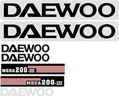 Amazon.com: Decal Set Diseñado para adaptarse a Daewoo Mega 200-iii excavadora: Industrial & Scientific Company Logo, Industrial, Industrial Music