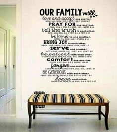 Wall Art  Family Bible Quote Decal Bible Verse Decal
