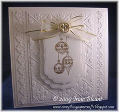 Mostly White Christmas by msb4u - Cards and Paper Crafts at Splitcoaststampers