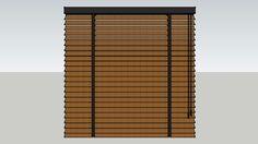 bécé Horizontale Jaloezie hout 50mm met ladderband - 3D Warehouse
