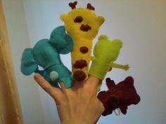 filcowe pacynki zwierzaczki rozrabiaczki;)