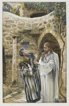 Jesus Heals a Mute Possessed Man via James Tissot