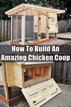 How To Build A Chicken Coop – SHTFPreparedness How To Build An Amazing Chicken Coop – Having chickens is rewarding and just pure awesomeness rolled into one. Make sure you have a great coop. Don't spend hundreds of dollars on a pre-made one. Build one! Chicken Barn, Chicken Coup, Chicken Runs, Chicken Sauce, Chicken Houses, Portable Chicken Coop, Backyard Chicken Coops, Chickens Backyard, Simple Chicken Coop