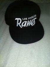 e09c4fa03 NFL Los Angeles Rams New Era Retro Script 59Fifty Fitted Hat - Black ...