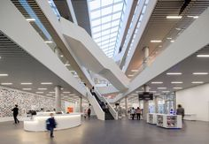 Interior of New Halifax Central Library, a civic landmark designed by schmidt hammer lassen architects