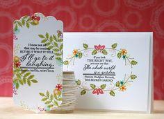 9/14/2014; Lauren Bassen at 'Doublestick Heaven' blog; Embellished Elegance stamp set; Basic Bookmark die