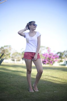 Taciele Alcolea - Look do dia: Short floral!