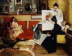 "Alfred Stevens (Belgian, 1823 – 1906) ""Ladies In the Studio"", 1888"